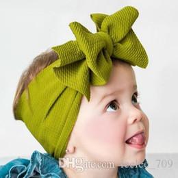 98da21b70cc57 adjustable headbands wholesale Promo Codes - 2019 New Adjustable Big Bow Turban  headband Top Knot Baby