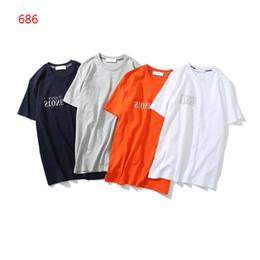 Sudaderas grises casuales online-2019 Camiseta de manga corta para hombre Camiseta de hombre Sudadera de hip hop Ropa casual negro Naranja blanco gris Isla M-2XL 686