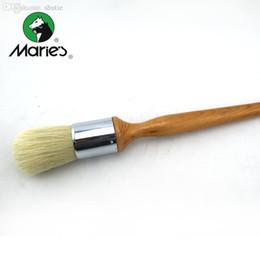 Óleo acrílico escovas on-line-Mop Atacado-Marie's Mop Bristle Brushes para pintura a óleo / acrílico Professional qualidade Art Tools Art Supplies