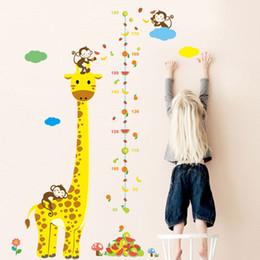 Canada Nouveaux Animaux Singe Girafe Hauteur Mesurer Stickers Muraux Pour Enfants Chambres Affiche Graphique De Croissance Décor À La Maison Offre
