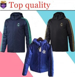 2019 2020 Real Madrid Winterjacke Hoodie Survetement 19 20 Flamengo Cotton Mantel Fussballjacke Sportswe Training Fussball Tracksui