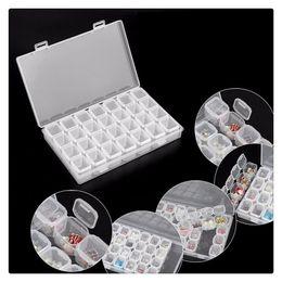 2019 sacos plásticos para cosméticos Sacos de maquiagem Kits de Pintura De Diamante Caixa De Armazenamento De Plástico Da Arte Do Prego Ferramentas de Strass Beads Caixa De Armazenamento Caso Organizador Titular Organizador Cosmético sacos plásticos para cosméticos barato
