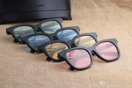 vidros vintage coreia Desconto 2017 Marca V Gentil Monstro Sul Lado Óculos De Sol Do Vintage Feminino azul noite Óculos Coréia Homens Mulheres Óculos De Sol oculo feminino