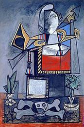 2019 dibujar pintar paisajes Pablo Picasso Pintura al óleo clásica de Argelia Mujeres Surrealismo 100% Hecho a mano por experimentados Pintor En Blanco Picasso034 lienzo