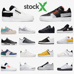 Scarpe atletiche da donna bianche online-Nike air force 1 shoes Economici 1 Dunk Utility bianco High Casual Athletic Shoes Donna Mens Just Black Orange Utility Grigio Giallo Rosso Low Cut Sneakers da skateboard