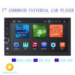 """Leitor de dvd duplo chinês on-line-2019 7 """"dupla din 12V carro DVD Android 8.1 áudio e vídeo player HD tela de toque capacitivo 1080P vídeo GPS 2 GB de RAM WIFI 3G espelho link"""