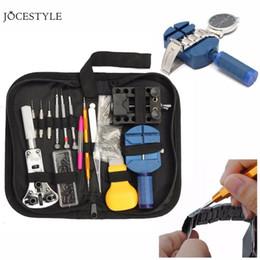 Tavoli utensili online-144 Set di riparazione degli attrezzi tabella di controllo Strumenti Orologio Repair Tool Kit Opener Pin di collegamento di rimozione della barra della molla Set Orologiaio