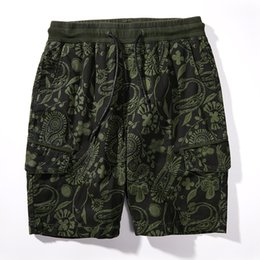 2019 justin ceintures En gros 2019 été Mode Hommes Pantalons Courts Hommes Casual Lâche Masculina Genou-Longueur Style Bohème Shorts Hommes 3 couleurs Taille M-XXXL