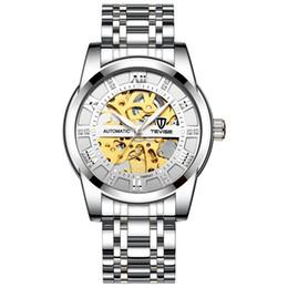 Erkek moda izlemek, moda otomatik mekanik saat, oyulmuş izle,, Watchboxes ayrı olarak satın alınması aydınlık su geçirmez gerek nereden akıllı saat perakende kutusu tedarikçiler
