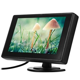video player de entrada Desconto 4.3 Polegada carro dvd TFT LCD Estacionamento Retrovisor Do Carro Monitor de Monitor de Backup Retrovisor Do Carro 2 Entrada de Vídeo para Câmera Reversa DVD