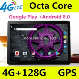 best tablet dual core Promo Codes - 10 inch tablet pc Android 8.0 octa core RAM 4GB ROM 128GB Dual SIM Bluetooth GPS 1920*1200 IPS tablets pcs best Christmas gift