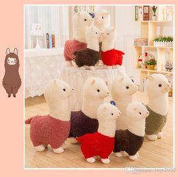 Gras spielzeug online-Grass Mud Horse Puppe Alpaca-Plüsch-Spielzeug Langes Haar-Kissen-Karikatur-nettes Schaf kurze Plüsch-Spielzeug-nettes Mini Gefüllt Alpaka Plüschtier