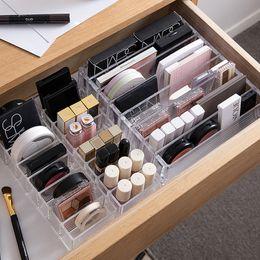 Пластиковый держатель для макияжа онлайн-Clear Acrylic Makeup Organizer CC Cream Storage Box organizador maquillaje Plastic Cosmetic Holder Cabinet  Display Box