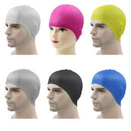 Шляпы 65см онлайн-Унисекс эластичный силиконовый водонепроницаемый плавательные шапочки для окружности головы 40-65 см защитить уши длинные волосы спорт плавательный бассейн шапка 1 шт.