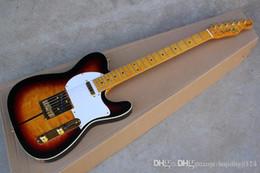 2019 gitarren telecaster Neue Ankunfts-F Telecaster Sunburst Custom Shop Tuff DOG TELE Signature E-Gitarre Golden Hardware günstig gitarren telecaster