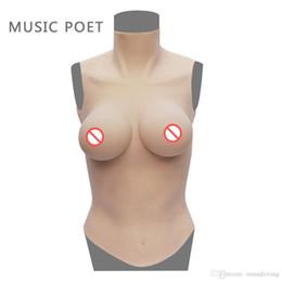MUSIC POET D cup forme al seno in silicone per mastectomia Donna enhancer seno Making corpo equilibrio tettarelle artificiali Cassa per crossdresser da