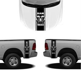autocollants graphiques de carrosserie Promotion Stylisme de voiture pour 3X DODGE CAPUCHON FENDER DECALS RAM HEMI 1500 2500 graphiques vinyle autocollants de corps