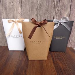 Cadeaux sacs en papier grand en Ligne-Merci boîte d'emballage sac en papier exquis grande capacité cadeaux bow-noeud pli boîte d'emballage livraison gratuite