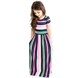 Canada Maxi Filles Robes D'été Élégant Enfants Vêtements Licorne Robe Infantil Automne Bébé Filles Robe Longue Bohême Robes Menina Offre