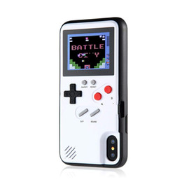 Cubierta completa del teléfono caso online-Pantalla a todo color 3D GameBoy Funda de teléfono para iPhone 7 8 6 6s Plus X Classic Retro Tetris Cubierta de juego para iPhone XS Max XR Coque