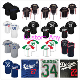 Dodgers Mexican Heritage Night México Jersey Walker Buehler Alex Verdugo Cody Bellinger Hernández Justin Turner Clayton Kershaw Kid Lady Hombres desde fabricantes