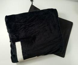 Tiros a cuadros online-Popular Black Coral pile Blanket Manta Fleece Throws Sofa Bed Plane Travel Plaids Towel Blanket 130cmx150cm luxury VIP gift