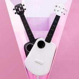 halb hohle körper bassgitarre Rabatt Populele 2 LED Bluetooth Smart Ukulele von Xiaomi Sopran Ukulele Konzert 4 Saiten 23 Zoll Weiß Akustische Elektrische Gitarre Uke