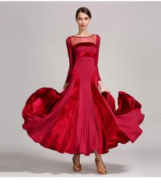 Argentina Diseñador Vestido de Salón Estándar Mujeres Vestido de Alta Calidad Tango Vals Colorblock Traje de Baile Salón de Baile Moderno Paquete de la Etapa Envío Gratis Suministro
