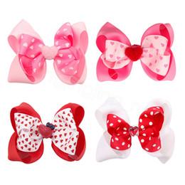 2020 tiras de valentines 4inch infantil Headbands do amor do coração INS Valentine Sequins Headband bebê Red Headband bebê cabelo arcos Valentines'Day fita Barrettes FFA3641 desconto tiras de valentines