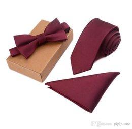 Magro Tie Set Homens Bow Tie e Pocket Praça Bowtie Gravata Cravate Handkerchief Papillon Man Corbatas Hombre Pajarita de