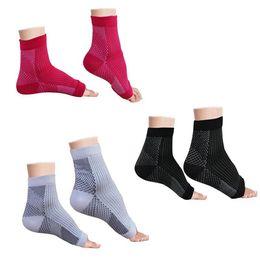 2019 calcetines de manga del pie Calcetines de compresión antifatiga para pies Hombres Mujeres Soporte de tobillo Calcetín Manga elástica y transpirable RRA1993 rebajas calcetines de manga del pie