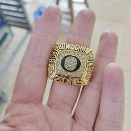 2019 roségold bogen ring 2019 Großhandel 2015 Oregon Ducks Rose Bow Championship Ring TideHoliday Geschenke für Freunde rabatt roségold bogen ring