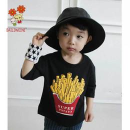 Ropa de niños franceses online-Cute papas fritas niños camiseta niños ropa niños camiseta niños diseñador ropa niñas camisetas Tops A7257