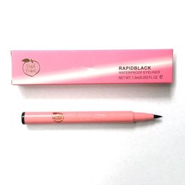 Canada Maquillage Peach Perfect RAPIDBLACK Eyeliner Liquide Imperméable 1.5ml Eye Liner Maquillage Pinceaux de maquillage Offre