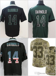 14 Sam Darnold New York Jerseys 33 Jamal Adams Jets 2018 USA Flag Impact  Lights out Black Rush Drift Camo Salute to Service Olive Limited 09945eaaa