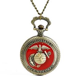 Orologi al quarzo all'ingrosso Catena Bronze lucidato orologi da tasca aquila terra PW163 da