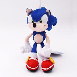 Brinquedo macio sônico on-line-Alta Qualidade 19 cm Azul Boneca de Pelúcia Sonic Toy Soft Sonic Bichos de pelúcia Personagens Crianças Brinquedos brinquedos Bonecas Presentes Frete Grátis