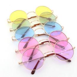 Branded circle sunglasses online-Artmarken-Entwurfssommersonnenbrille der neuen Art und Weiseunisexart und weisekreissonnenbrillegläser bunte freies Verschiffen