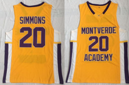 a77e8c219b71 2019 ben simmons jersey High School 20 Ben Simmons Jersey Men Montverde  Academy Eagles Basket 25