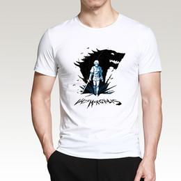 2019 tronos do jogo camiseta Game of Thrones Arya Casa Stark Valar Morghulis Inverno Está Chegando T Shirt Homens 2019 Verão de Algodão de Manga Curta Camisetas CM01 desconto tronos do jogo camiseta