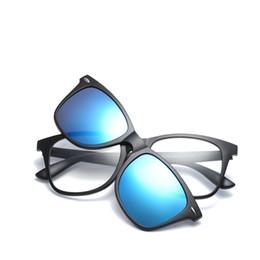 5d099c74c GLAUSA Vintage unissex miopia quadro óptico com lente polarizada homens  mulheres clipe de moda adsorção ímã em óculos de sol novo
