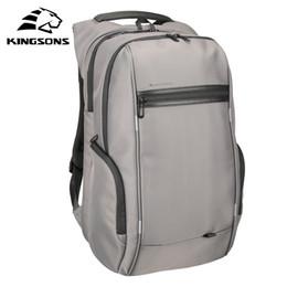 computadoras portátiles 17 Rebajas Kingsons multifunción USB carga hombres 15 17 pulgadas mochilas portátiles para adolescentes moda hombre mochila de viaje antirrobo