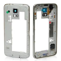 2019 caso medio di iphone 5s Obiettivo della macchina fotografica dell'incastonatura della struttura centrale della parte posteriore dell'alloggiamento per Samsung Galaxy S5 G900A G900A G900A con trasporto libero