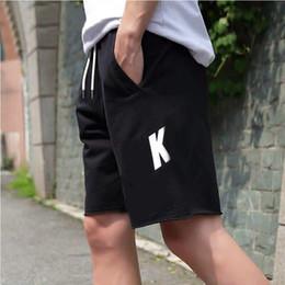 2019 modèles de vêtements de sport New Summer Designer Shorts Hommes Pantalons avec Lettre Logo Motif Sport Loose Brand Shorts Pantalon pour Hommes Mode Vêtements pour hommes modèles de vêtements de sport pas cher