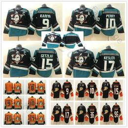 c4ec705e6 Anaheim Ducks #8 Teemu Selanne 9 Paul Kariya 10 Corey Perry 15 Ryan Getzlaf  17 Ryan Kesler Purple Orange Black Ice Hockey Jerseys