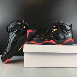 zapatos de charol al aire libre de las mujeres Rebajas Zapatos de calidad superior Negro Charol WMNS baloncesto 7s para hombre diseñador de las mujeres tamaño original zapatillas de deporte al aire libre 7-13