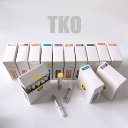 Atomizador de cera de vidrio ecig online-Nuevo TKO Extrae cartuchos de Vape Empaquetado para vidrio Grueso Atomizadores de aceite 0.8ml 1.0ml Cerámica Dab Cera Ecig Vaporizador 510 Rosca