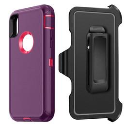 2019 cas pour samsung Coque Defender 3 en 1 pour iPhone X XS Max XR 7 8 Plus Samsung S10 Lite S9 S8 avec clip de ceinture