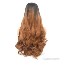 Parrucca sintetica ondulata bionda lunga per le donne con grande scambio scoppi capelli ad alta temperatura da 22 pollici parrucche anteriori in pizzo spedizione gratuita per le donne nere da