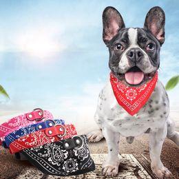 Piccola sciarpa a triangolo online-Pu Pet Triangle Scarf Collari per cani Pet Mouth Water Towel Collare per cani e collare per gatti Animali domestici Accessori Forniture